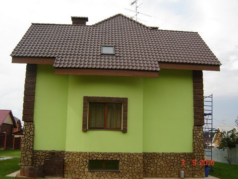 COTTAGE 9 km Novorizhskoe highway guarded gated village. Shulgin. 3-level brick. Total 250 sq / m NEW HOUSE! Cap: pool, sauna, shower / cab, c / a, recreation room, laundry room. 1st floor: hall, cloakroom, living room fireplace, kitchen / dining roo...