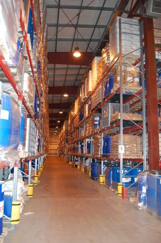 Cklad, escrow services in a new modern warehouse complex