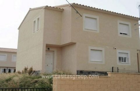 A Modern semi-detached House just outside Aigues, handy for both the Village and Alicante Town and Airport. Enter the gate into a small front garden. Through a Porch into the Hallway with a modern fully fitted kitchen with Ceramic Hob, Washing Machin...