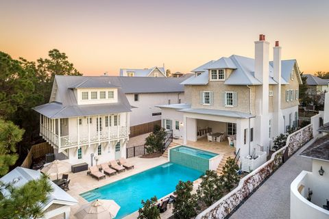 Exceptional in its beauty, luxury, and serenity, 68 West Kingston is a breathtaking property in 30A's most storied community. Artfully designed with Wolf and Subzero appliances, a butler's pantry, two wet bars, a master bedroom breakfast bar, spectac...