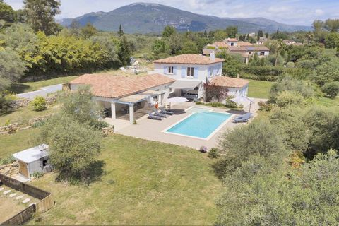 Highly sought after, Le Rouret: residential area, quiet, beautiful neo-provencal villa. Accommodation bright and spacious offering: entrance hall, a huge open plan large and bright living room and combined dining room with fireplace leading out via l...