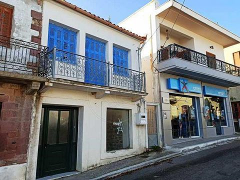 Evia, Oxylithos. For sale a traditional stone house of 130 sq.m. The house consists of two floors, 65 sq.m. each. There is a storeroom at the ground floor, suitable for professional use. At the first flor there is an apartment wich consists of living...