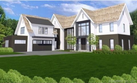 New construction now underway in Westport's Old Hill neighborhood - truly the best of both worlds, the feel of a country estate, just minutes from downtown shops, dining and schools. Set on a full acre, this spectacular home will be finished in a tra...