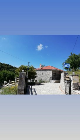 Detached house 114 sq.m., elevated ground floor, frontage, airy, 2 bedrooms, construction '04, bathroom, traditional, villa, stone, mountain, furnished, on a plot of 9,000 sq.m., open plan living room kitchen, autonomous heating , central heating, ai...