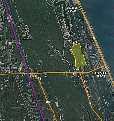 Coastal development opportunity within 5 minutes of I-95! Perfectly situated less than 3 minutes from the golden sands of Flagler Beach and its ever-expanding offering of river and ocean view restaurants, this is the last treasure along the Flagler a...