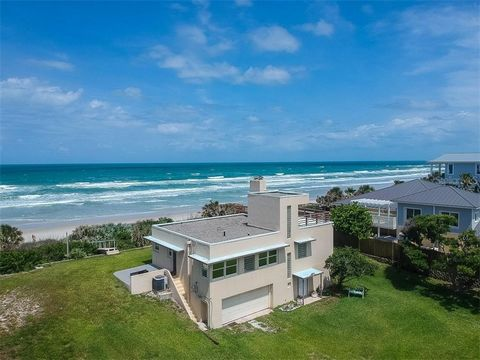 Prime oceanfront address in Daytona Beach Shores! Own this fabulous property with 175 feet of oceanfront on a 1.46 acre lot with beach access. Lot size is 175' x 404'. Former coastal residence of The Dr. Phillips family. Built in 1947 with vintage Fl...