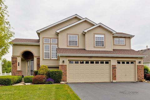 2021 PAINT ON FIRST AND SECOND LEVELS!!! Come fall in love with stunning 4 bedroom, 3.1 bath home nestled in quiet neighborhood and AWARD-WINNING Stevenson High School district!!! Flow through grand entry and enjoy home's bright and airy voluminous l...