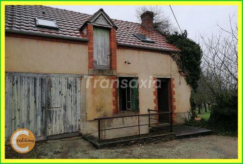 Immobilier CENTRE FRANCE - Région BOUSSAC (23) - Au coeur d'un village de l'ALLIER à 4 km bourg avec commerces - MAISON à RENOVER sur 200 m² de TERRA