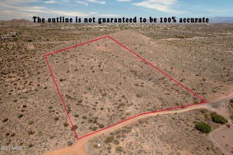 Spectacular Elevated Hill Top Building Site on 5.136 Acres. Natural Building Site on South Slope of Mountain with outstanding views of Troon Mountain, The McDowell's, Tom Thumb and Four Peaks. Relatively easy driveway and build for a hilltop site. Wa...