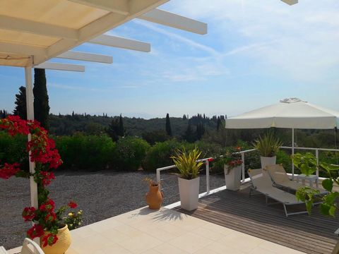 For sale a 120 sq.m. two-storey villa in the traditional village of Kato Korakiana in the North-East side of Corfu.It sits on an (approx) 6.000sqm plot which is surrounded by the lush green of nature. A 120sqm under construction building is also incl...