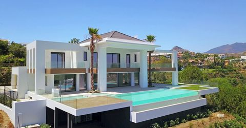 Spain. Benahavis. Contemporary masterpiece offering beautiful sea and golf views, in one of the most prestigious residences of