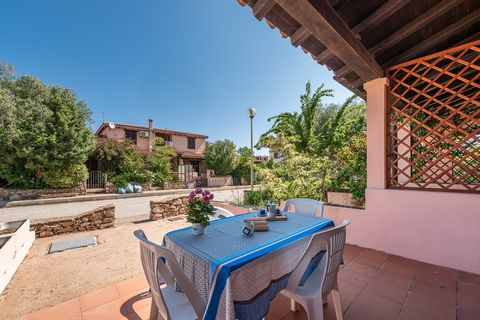 HOLIDAY HOUSE situated in the center of San Teodoro and located on the ground floor of a small apartment complex; It consists of living room with kitchenette and sofa bed, loft with two beds, double bedroom and bathroom. The property includes an outd...