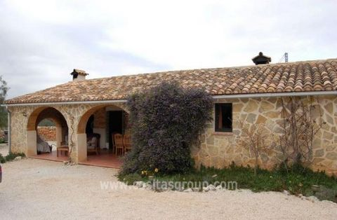 A Restored Finca over 100 years old on a good sized Plot in Lliber in the Jalon Valley. Accessed by a tarmaced road, the plot is completely fenced and gated with a flat gravelled area in front of the Finca. The Large covered Naya in front of the Finc...