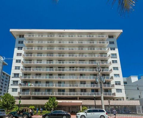 Fantastic unit with parking & oversized balcony in completely updated oceanfront south of fifth street building! Beautiful sunset & south beach views from this uniquely redesigned unit: redone to maximize space includes a second bedroom, extra closet...