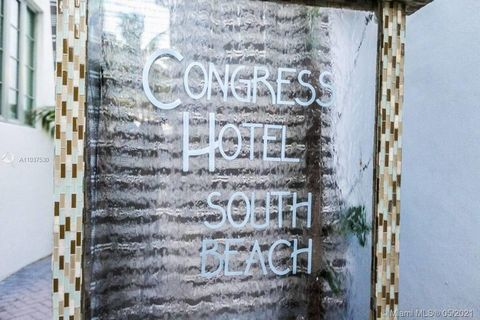 Direct Oceanfront View on Ocean Drive...does it get any more South Beach than that! Art Deco, boutique style hotel condo, fully furnished 1 bedroom, 1 bathroom with plenty of direct East and South exposure. Look at the ocean or down Ocean Drive. Kitc...