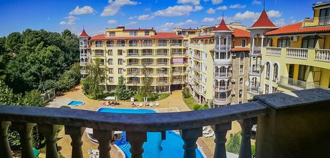 Burgas. Furnished 2-bed, 2-bath apartment with POOL view in Summer Dreams, Sunny Beach IBG Real Estates is pleased to offer this spacious apartment located on the 5th floor in complex Summer Dreams, Sunny Beach. The complex is between the centre of t...