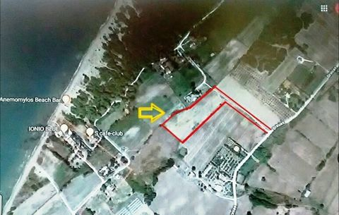 For sale seafront plot of 10500 sq.m. in Mprinia, Achaia, Peloponnese. The plot has a private road. There is a permit for the construction of two buildings 180 sq.m. each. Distance to the sea 5 minutes walk. Price 100.000 euros.