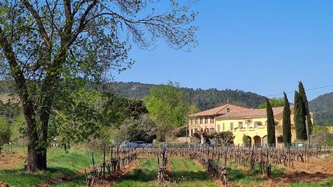 Impressive work tool at the heart of the Var 61 ha of vineyard in AOP Cotes de Provence and IGP Located in the central Var, this impressive commercial vineyard is easily accessible, being just 20 minutes from motorway exits. The residential and opera...