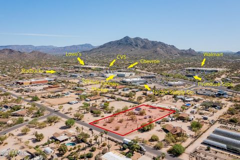 OPPORTUNITY AWAITS!!! 1.25 ACRE Cave Creek property with potential for rezoning to multi-family or commercial. See aerial map and pictures of this southwest location of Carefree Highway & Cave Creek Rd. Just a matter of time that all of these lots be...