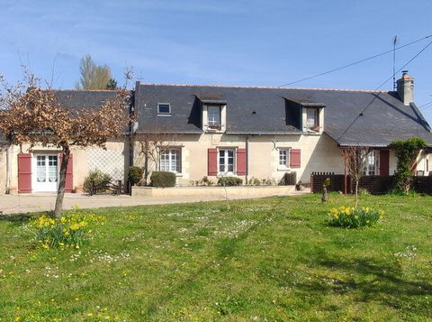 Property with 2 gites (3 bedrooms and 2 bedrooms) on 3.3ha land, in the Loire chateaux area, 2km from a large and lively village with many amenities and 13km from the attractive town of Saumur. A half-hectare plot is currently used as a market garden...